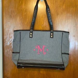 "Thirty-One initial ""M"" tote bag"